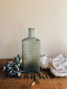 Large Antique Blue / Green Bottle