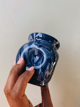 Load image into Gallery viewer, Vintage Blue Marble Drip Glaze Pot