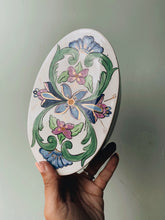 Load image into Gallery viewer, Vintage Hand~painted Floral Decorative Ceramic Dish with Lif