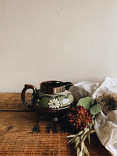 Load image into Gallery viewer, Vintage Green Floral Jug