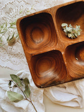 Load image into Gallery viewer, Rustic Wooden Compartment Dish