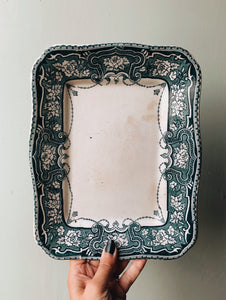 Antique St Kilda Teal Decorative Dish ~ Lincoln Pottery