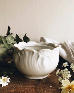 Vintage French Limoges White Pot