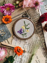 Load image into Gallery viewer, Vintage Butterfly Embroidery Hoop / Hanging
