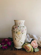 Load image into Gallery viewer, Vintage Relief Floral Ceramic Vase