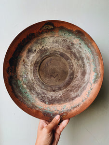 Large Vintage Patina Copper Bowl