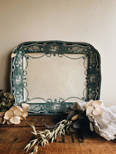 Load image into Gallery viewer, Large Antique St Kilda Teal Decorative Dish ~ Lincoln Pottery (UK Shipping only)