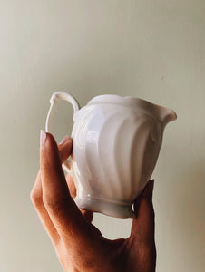 Vintage White Milk Jug
