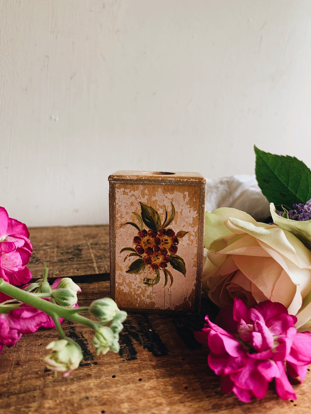 Vintage Floral Matchbox Holder