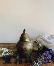 Load image into Gallery viewer, Vintage Brass Decorative Ginger Jar