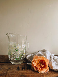 Retro Daisy Glass Jug