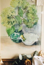 Load image into Gallery viewer, Fine Art Painting Framed and Signed ~ Billowing Blooms in vase and Shell Dish (UK shipping ONLY)