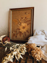 Load image into Gallery viewer, Vintage Dried Floral Artwork Framed