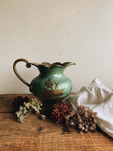 Load image into Gallery viewer, Vintage Floral Brass Emanuel Scalloped Jug / Vase