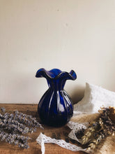 Load image into Gallery viewer, Vintage Cobalt Blue Vase