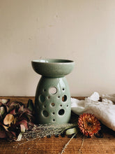 Load image into Gallery viewer, Rustic Green Burner (crazing)
