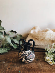 Rustic Hand-painted Greek Decorative Ceramic Set