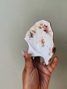Vintage Rose Shell Dish
