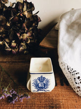 Load image into Gallery viewer, Vintage French Blue Pot ~ Timeless Candle Clearing Sage, Eucalyptus, Lavender, Orange, Cedar Wood & Oak Moss