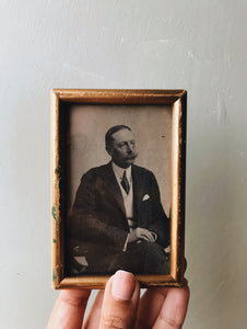 Late 19th Century Vintage Frame and Photograph ~ gentleman