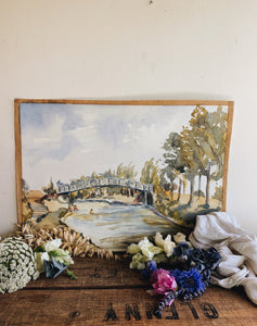 Vintage 1950's Impressionist Watercolour