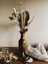 Load image into Gallery viewer, Vintage Brass Decorative Etched Vase