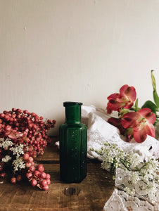 Antique Green Apothecary Bottle