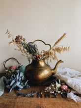 Load image into Gallery viewer, Vintage Decorative Brass Tea Pot (no top)
