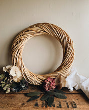 Load image into Gallery viewer, Rustic Wicker / Rattan Wreaths ~ two sizes available
