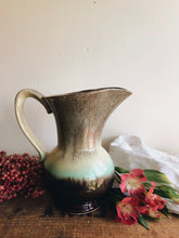 Load image into Gallery viewer, Vintage German Green & Brown Marble Glaze Jug