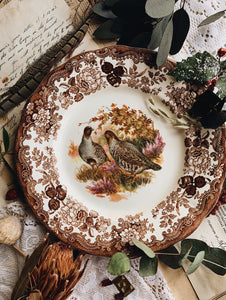 Vintage Royal Worcester Two Partridges (game collection) Plate