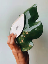 Load image into Gallery viewer, Vintage Green Carlton Leaf Dish