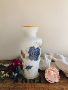 Vintage Rose Glass Vase