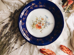 Antique Trent Summer Floral Dish / Bowl