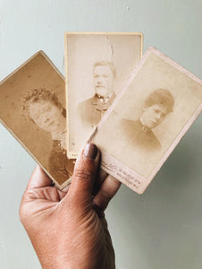 Three Antique Photographs (Early 1900's)