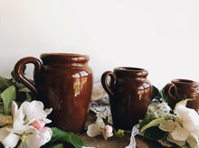 Load image into Gallery viewer, Three Vintage Slip Glazed Earth-ware Jugs (sold separately)