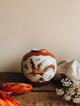 Load image into Gallery viewer, Vintage Orange Decorative Oriental Ginger Jar