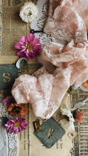 Load image into Gallery viewer, Vintage Pink Lace Trim