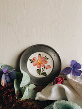 Load image into Gallery viewer, Vintage Decorative Pewter Floral Ceramic Hanging Plate
