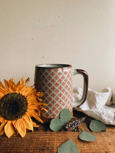 Rustic Large Decorative Ceramic Tankard Cup