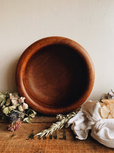 Load image into Gallery viewer, Large Vintage Rustic Handmade Wooden Bowl (UK shipping ONLY)