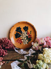 Load image into Gallery viewer, Hand~painted Floral Wooden Dish (artwork hanging)