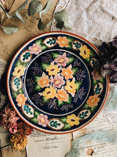 Load image into Gallery viewer, Rustic Vintage Floral Plate