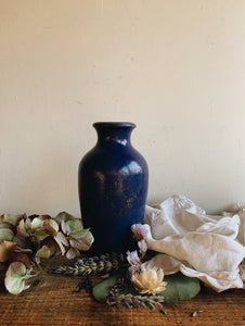 Antique Ronuk Cobalt Blue Polish Pot