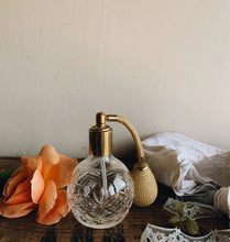 Load image into Gallery viewer, Vintage Glass Perfume Bottle & Spray