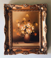 Load image into Gallery viewer, Vintage Signed Floral Oil Painting