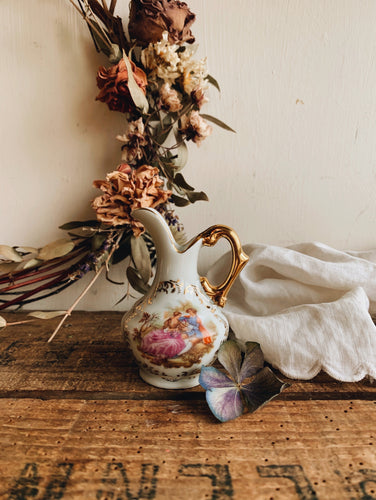 Vintage French Whimsy Jug
