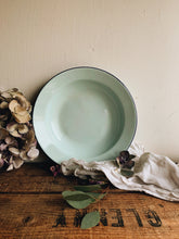 Load image into Gallery viewer, Vintage Green / Blue Enamel Bowl
