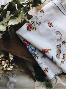 Parisian Embroidery and crochet Linen