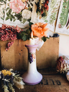 Purple Haze Grape Vine Ceramic Candle Stick